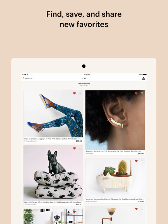 Etsy: Shop Handmade, Vintage & Creative Goods Screenshot