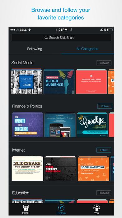 LinkedIn SlideShare: Professional Knowledge Screenshot