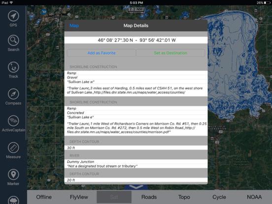 Michigan HD - Water Map Navigator iPad Screenshot 2
