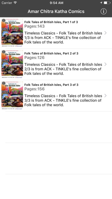 Folk Tales of British Isles Digest (Entertaining stories from British Isles - Amar Chitra Katha TINKLE Comics iPhone Screenshot 1