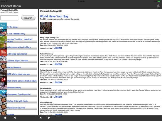 Podcast Radio (Streaming) iPad Screenshot 1