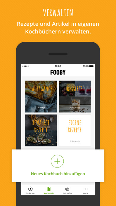 FOOBY: Rezepte & mehr Apps free for iPhone/iPad screenshot