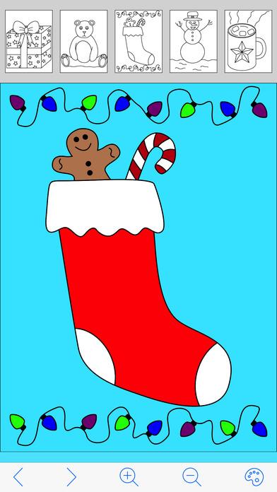 My Holiday Coloring Book Free iPhone Screenshot 3