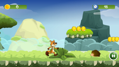 Mr Fox Jungle - Running World Kids Adventure Game screenshot 2