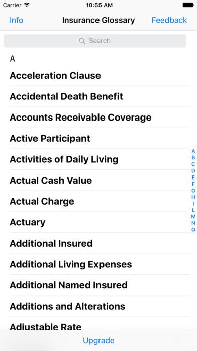 Insurance Glossary Lite iPhone Screenshot 2