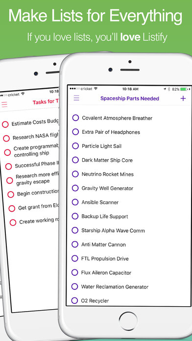 Listify - Easy Shopping Lists, Checklists, & Tasks Screenshots