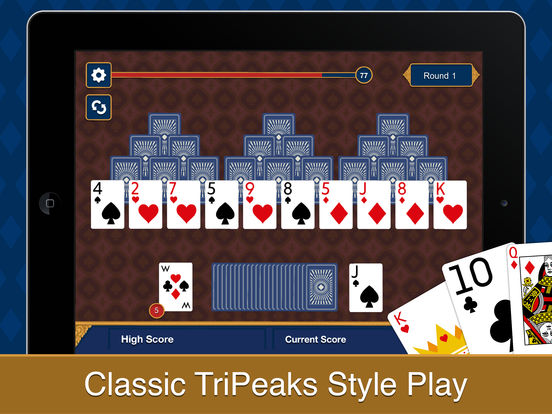 Three Peak Solitaire iPad Screenshot 1