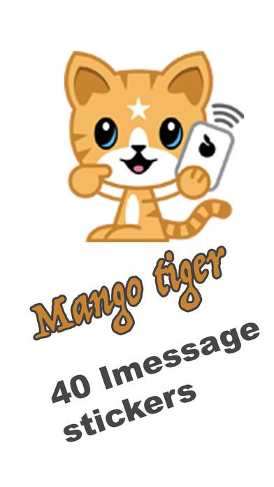 Mango Tiger Stickers screenshot 1