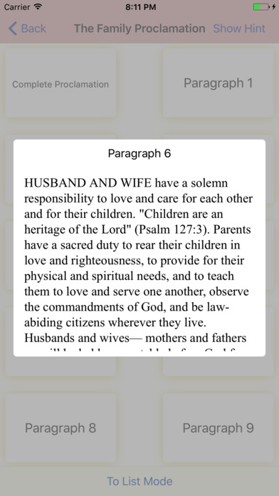 LDS Memory: Articles of Faith (AF) iPhone Screenshot 3