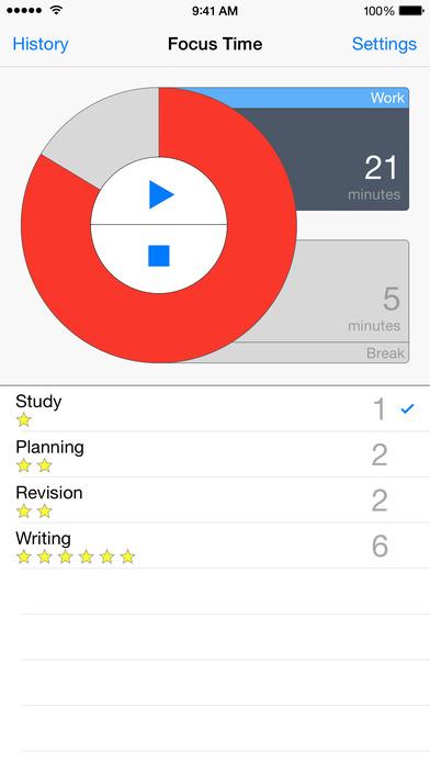 PomodoroPro iPhone Screenshot 2