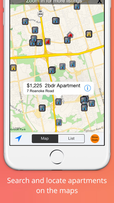 Apartment Rentals Search iPhone Screenshot 1