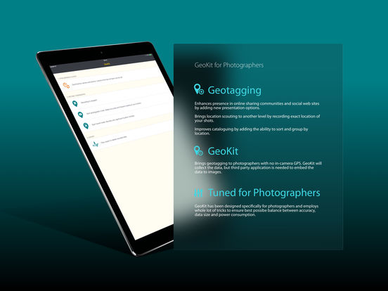 GeoKit for iOS - Geotagging for photographers and iPhone Image