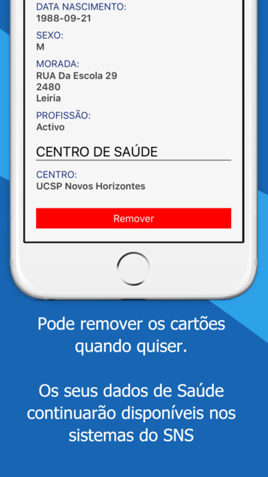 MySNS Carteira Apps free for iPhone/iPad screenshot