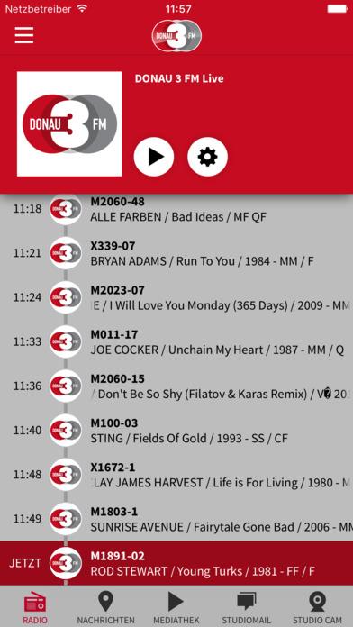 DONAU 3 FM iPhone Screenshot 2