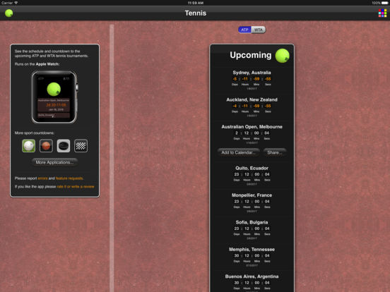 Tennis Matches iPad Screenshot 2