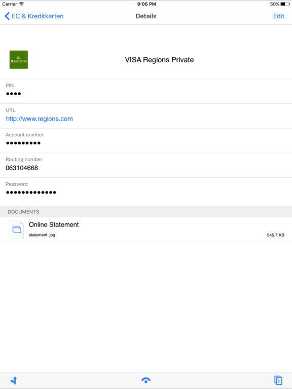 iPIN - Secure PIN & Password Safe Screenshots