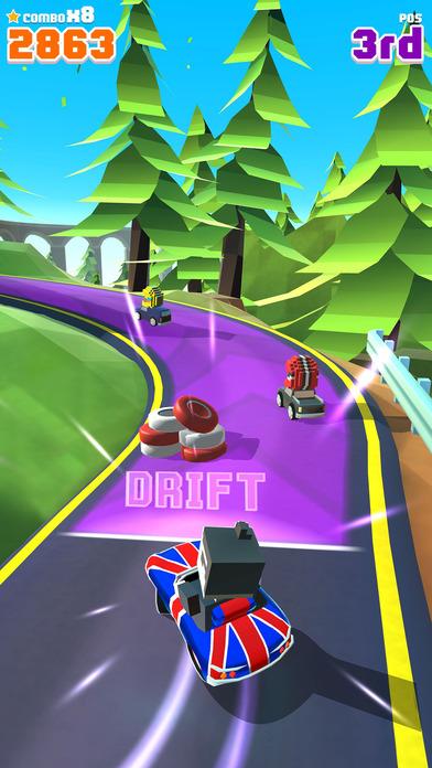 Blocky Racer - Endless Arcade Racing Screenshot