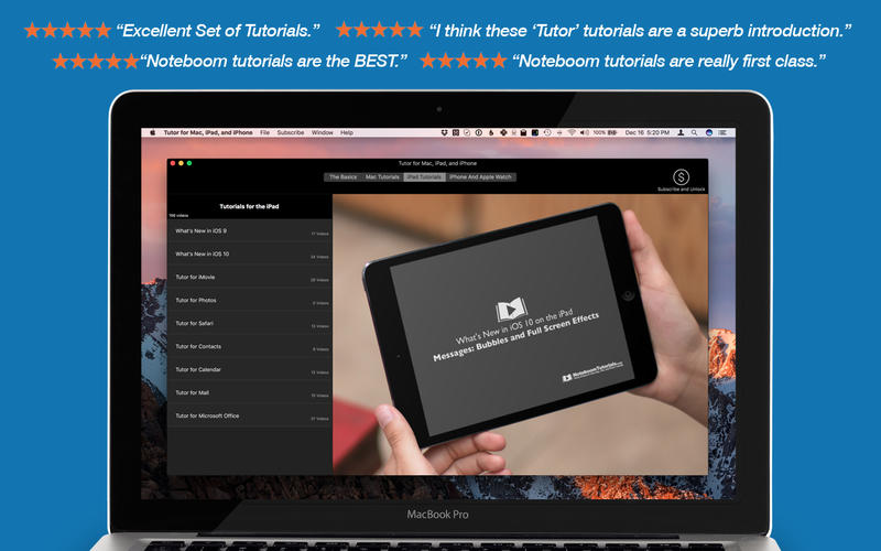 Tutor for Mac, iPad, and iPhone for Mac