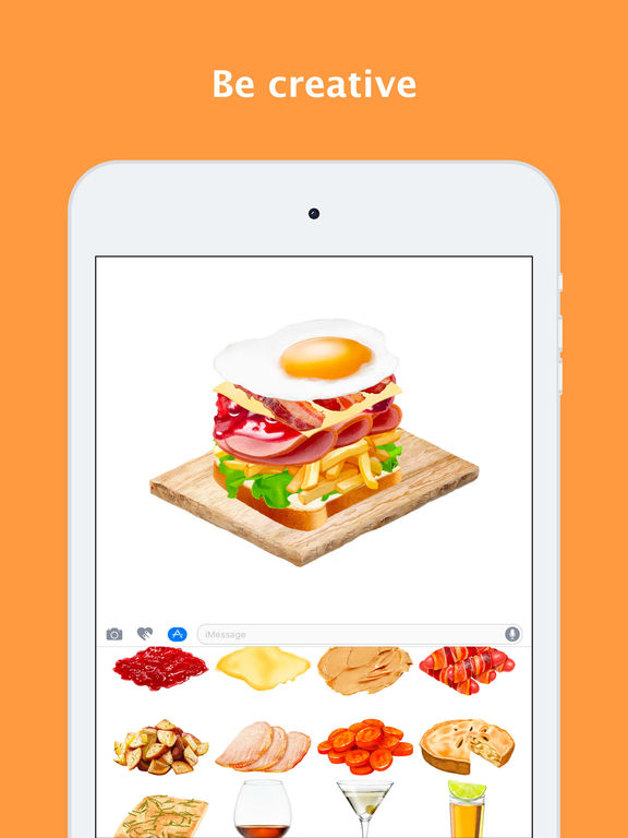 Yumsty make food in your chat entice friends apprecs for Application creation cuisine