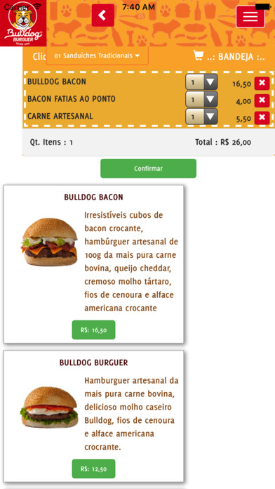 BulldogBurguer screenshot 2