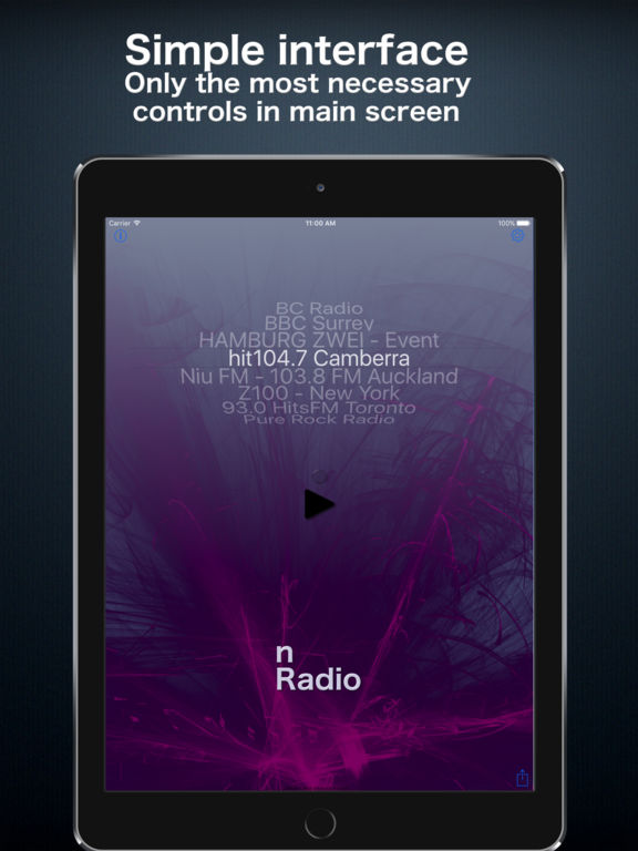 nRadio - Not just another Internet Radio app Screenshots