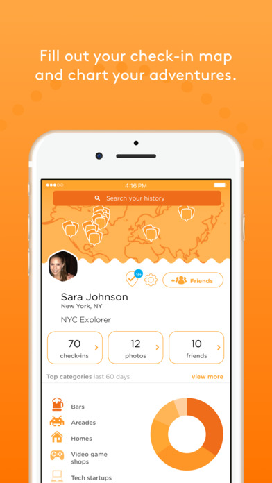 Foursquare Swarm: The Check In App screenshot