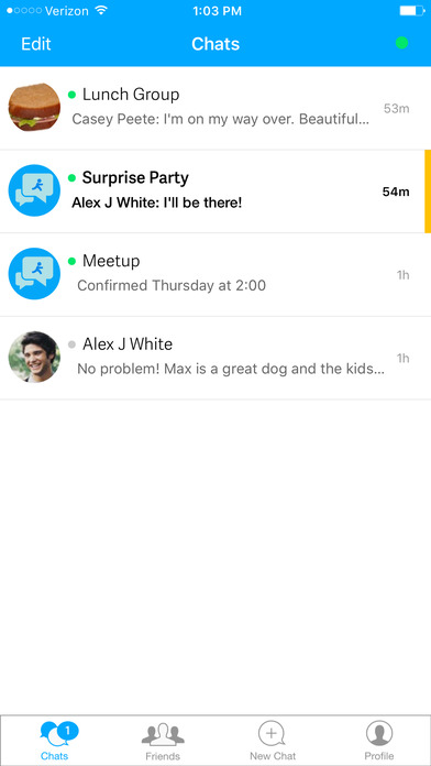 Screenshots for AIM: Chat, Text, Photo Share, Voice Message