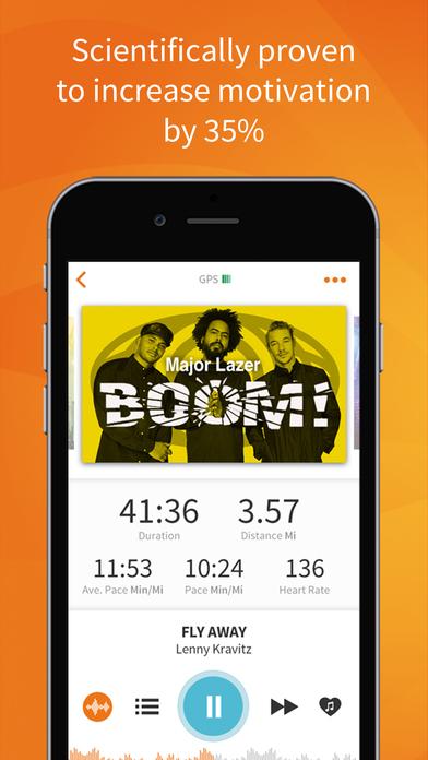 RockMyRun - Workout Music & Running Tracker Screenshot