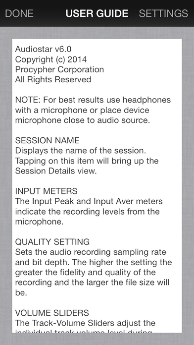 Audiostar Multitrack Recording Mixer iPhone Screenshot 5