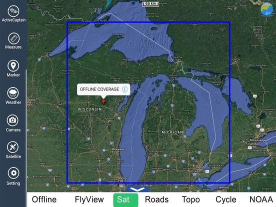 Michigan HD - Water Map Navigator iPad Screenshot 5