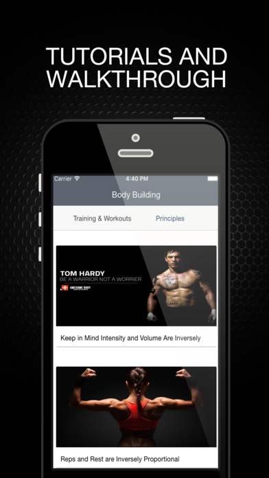 Body Building - Training and Workouts Apps free for iPhone/iPad screenshot
