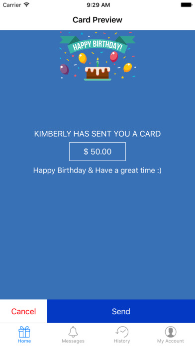 Bankable Celebrations released for iOS - Send Special eCards with Cash Image