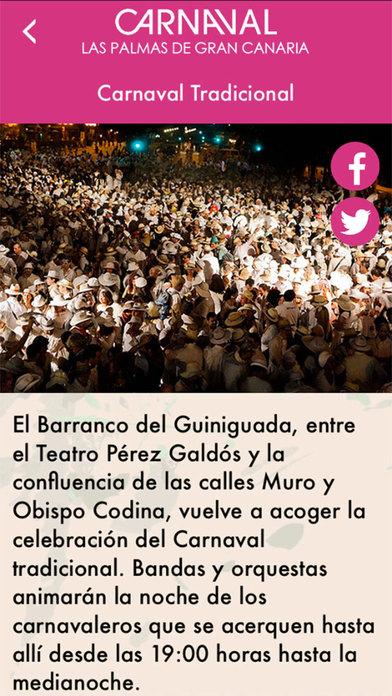 Carnaval de Las Palmas de GC iPhone Screenshot 5