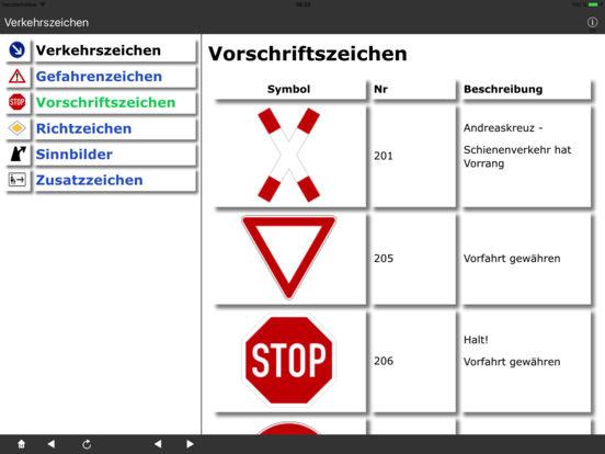 Verkehrszeichen DE iPad Screenshot 2