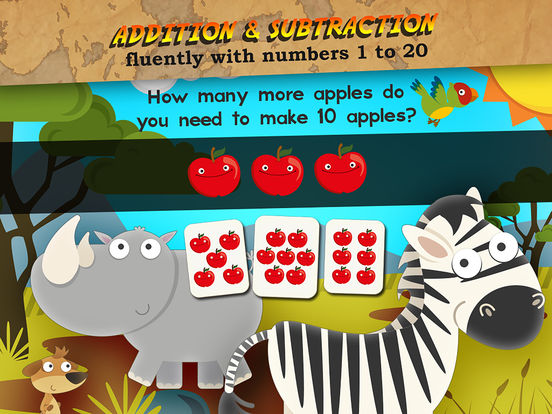 Animal Math First Grade Math Games for 1st Grade Screenshots