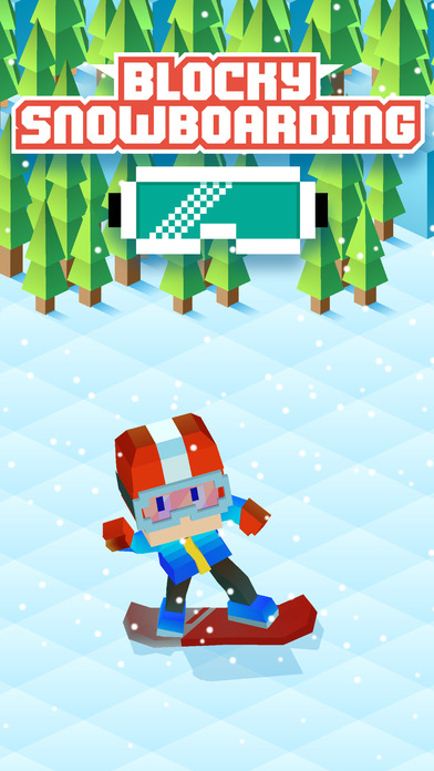 Full Fat releases Blocky Snowboarding v1.0 for iOS - Hit the Slopes Image