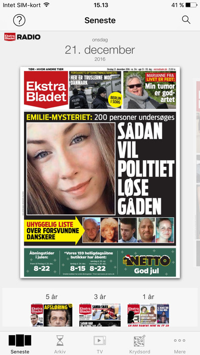 eBladet archive iPhone Screenshot 1