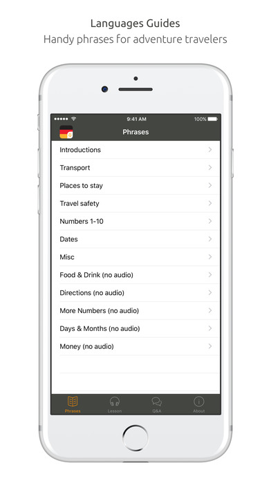 World Nomads German Language Guide iPhone Screenshot 2