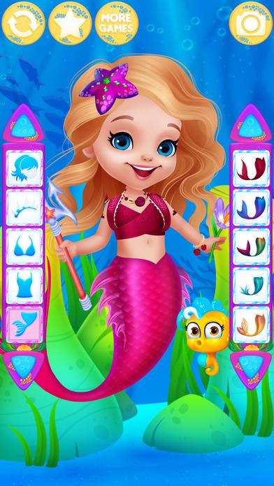 App Shopper: Cute Mermaid Dress Up - games for girls (Games)