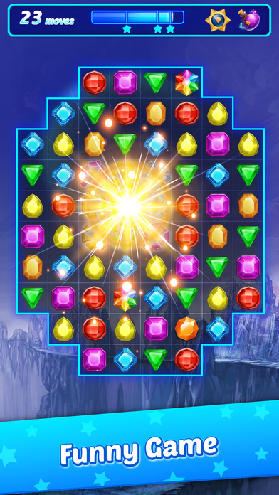 Jewel Gems Pop Matching puzzle Games free for iPhone/iPad screenshot