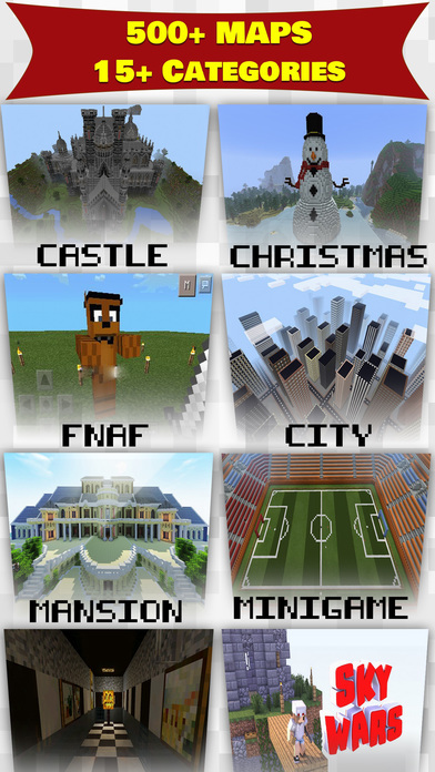 Adventure Maps For Minecraft PE (MCPE) Apps free for iPhone/iPad screenshot