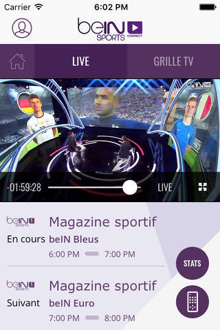 beIN SPORTS CONNECT screenshot 2