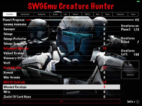 SWGEmu Creature Hunter iPad Screenshot 3