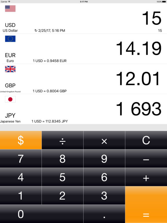 Currency+  Money converter Screenshots