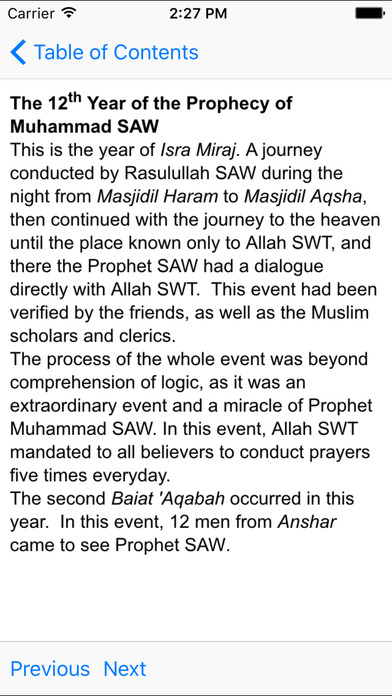 Important Events in the Life of Prophet Muhammad iPhone Screenshot 4