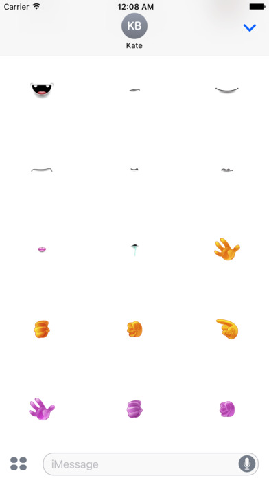 Monster Emoji Face Stickers screenshot 4