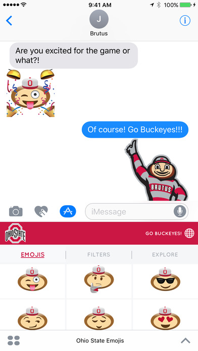 Ohio State Emojis iPhone Screenshot 2