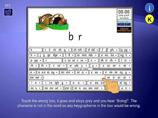 English Phonics Test - Learner User Guide iPad Screenshot 4