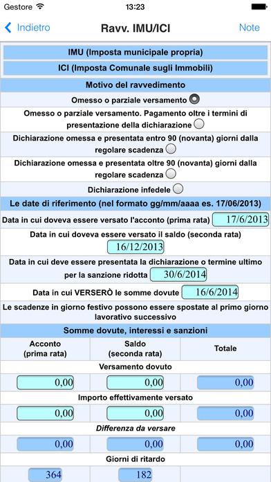 Calcolo Ravvedimento Operoso iPhone Screenshot 3