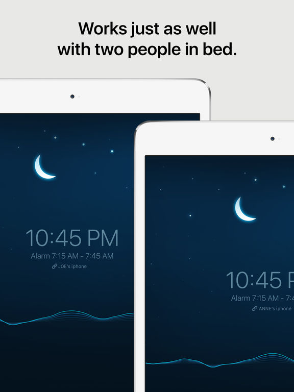 Screenshots of Sleep Cycle alarm clock for iPad